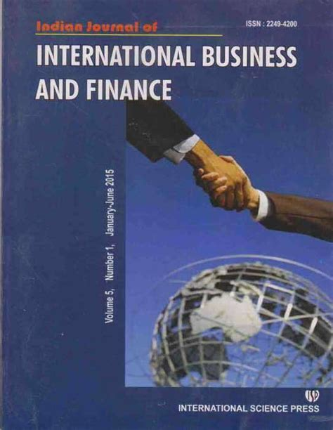 How To Finance An International Mba by Buy Indian Journal Of International Business And Finance