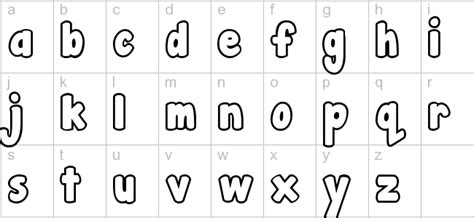 printable bubble letters lowercase free printable lowercase bubble letters stencil letters