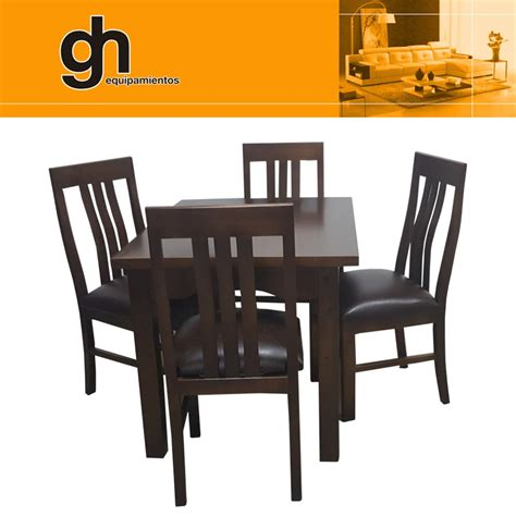 mesa  sillas  cocina comedor living madera maciza gh