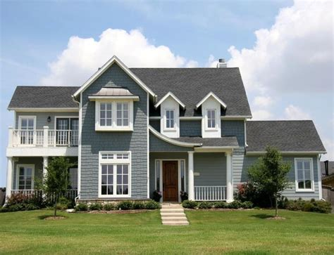 House Exterior Paint | exterior house paint light grey white trim red door