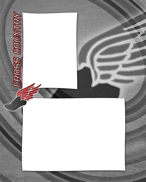 memory cross template cross country running photo templates
