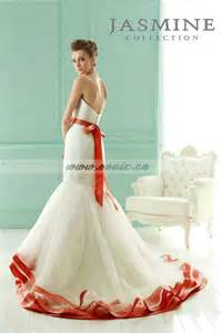 orange and white wedding dresses wedding dresses with orange sashes 20130 new low