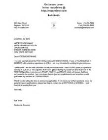 Cover Letter Exles For by Cover Letter Sle 3