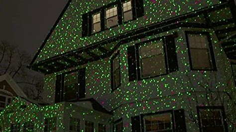 christmas laser lights star show remote red green