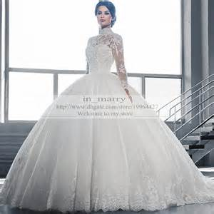 victorian arabic long sleeves ball gown wedding dresses