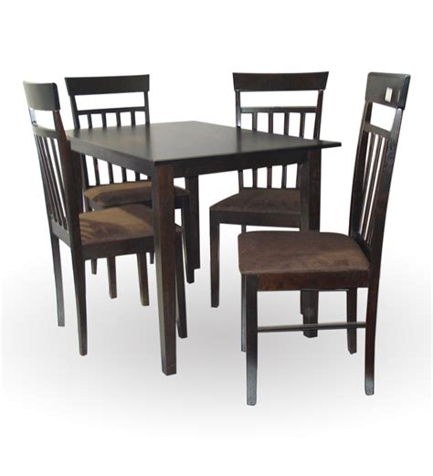 simplistic 4 seater dining table set by furniture house by