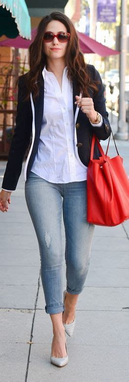 Style Emmy Rossum Fabsugar Want Need by Best 25 Blue Blazer Ideas On Navy Blue