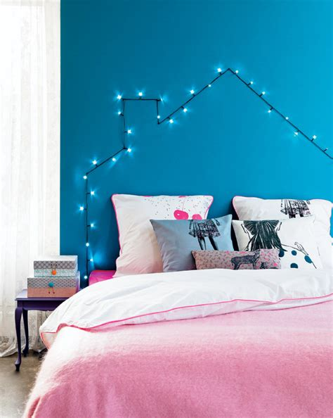 The String House by House Headboard From Lights Decor Hacks