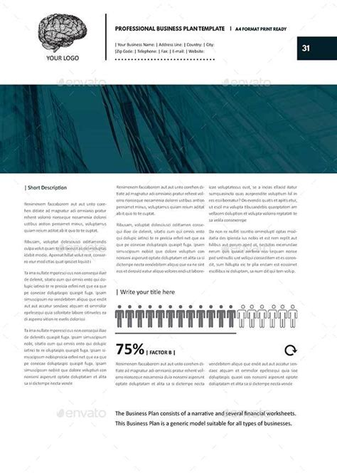 template for professional business plan professional business plan template by keboto graphicriver