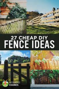Cost Of Fencing Backyard - 27 cheap diy fence ideas for your garden privacy or perimeter