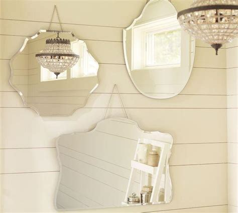 Piper Frameless Mirrors Pottery Barn Pottery Barn Bathroom Mirror