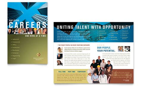 career brochure template employment agency fair brochure template word