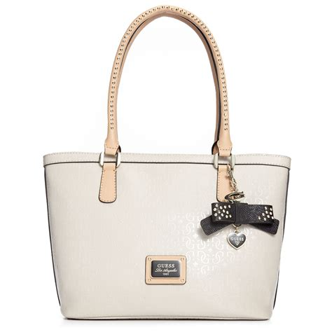 Guess Bag lyst guess guess handbag specks small classic tote in white