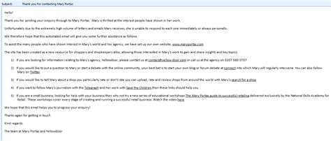 customer service auto response email template enquiry form auto reply sle html autos post