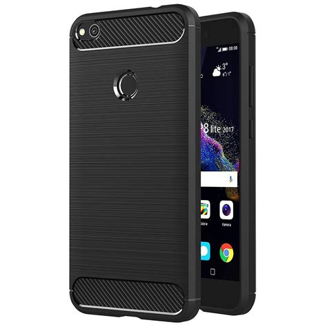 Huawei P8 Thin Softgel With Carbon Brush Texture Cover carbon brush silicone matte black protective cover thin slim ebay