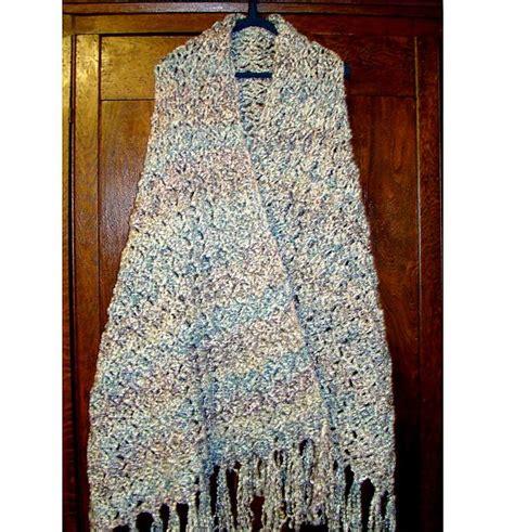 prayer shawl pattern homespun yarn soft comfy prayer shawl crochet pattern uses homespun