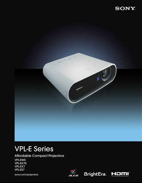 Proyektor Sony Vpl Ex7 free pdf for sony vpl ex7 projector manual