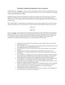 marketing services contract template marketing consulting and independent contract agreement