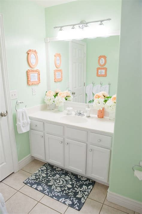 gray and coral bathroom serene coral combinations mint grey cream