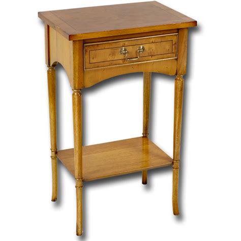 reproduction small elegant hall table  yew  mahogany