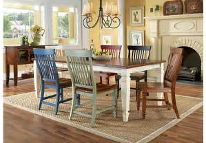 Cottage Dining Room Furniture Home White California Cottage Farmhouse Leg 5 Pc Dining Room Dining Room Sets White