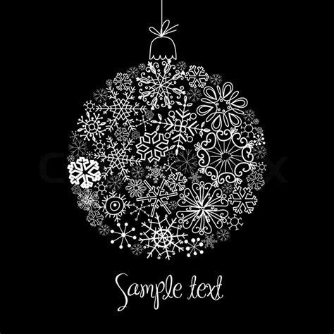black  white christmas ball stock vector colourbox