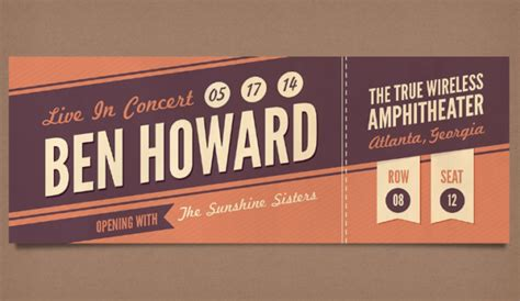 28 Free Ticket Templates Psd Mockups Xdesigns Concert Ticket Design Template Free