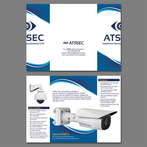 leaflet design for cctv elegant playful brochure design by raigraphics design