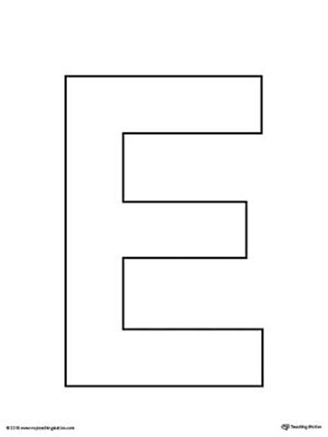 e template uppercase letter e template printable letter templates