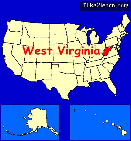 map united states showing west virginia west virginia