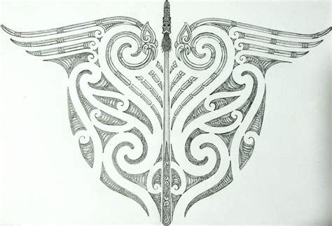 maori tribal and taiaha back design by savagewerx on deviantart