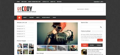 cody responsive magazine blogger template cool blog