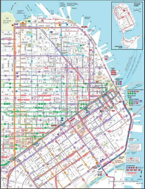 san francisco transportation map hotel map san francisco downtown san francisco map