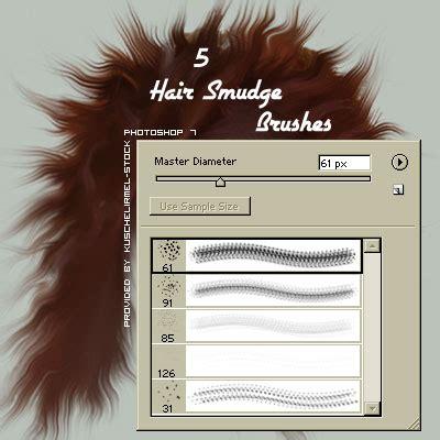 smudge brush tutorial photoshop hair smudge brushes by kuschelirmel stock on deviantart