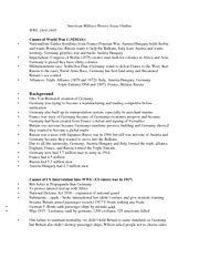 History Course Outline by American History Essay Outline American History Essay Outline Wwi 1914 1918