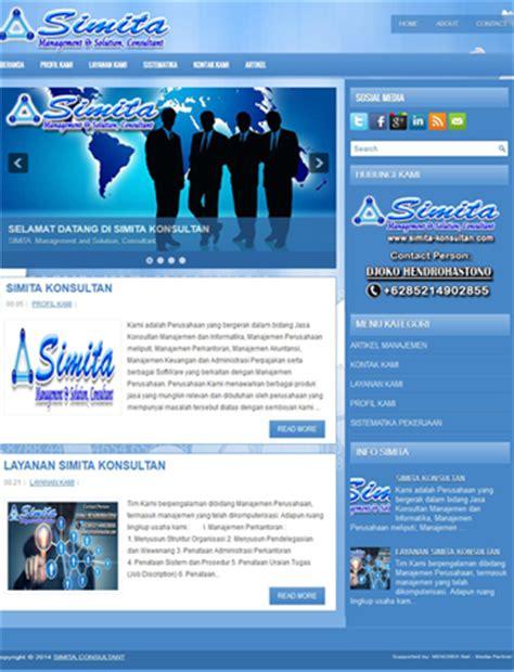 contoh desain web distro contoh desain web blog profil usaha company profile