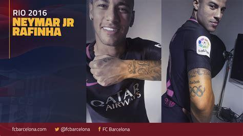 tattoo cost barcelona neymar jr and rafinha get tattoos commemorating their