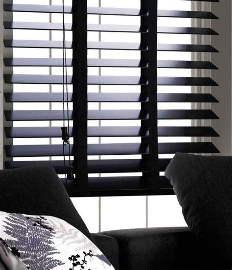 Black Window Blinds Of Wood Window Blinds Window Treatments