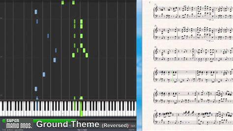 piano tutorial up theme super mario bros theme reversed synthesia piano tutorial