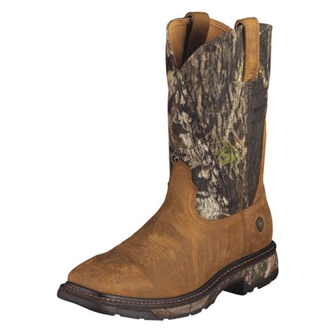 ariat camo boots ariat s workhog wide square toe boots in camo