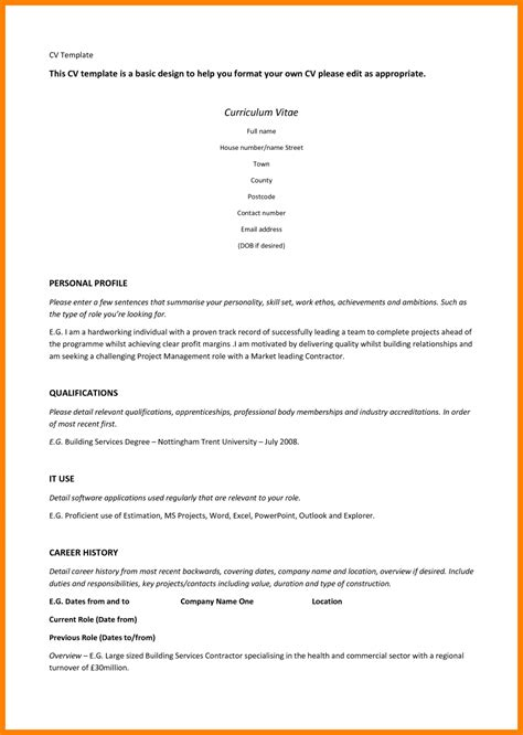 template cv wordpad 9 resume template for wordpad applicationleter com