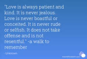 Love is patient love is kind a walk to remember quote love is patient