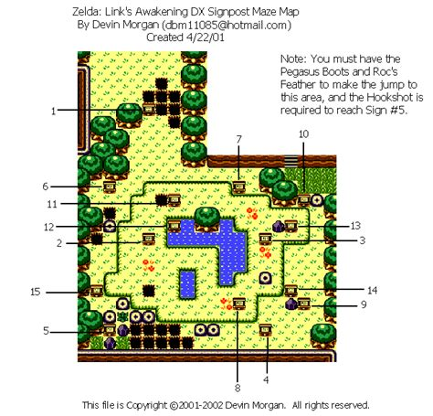 Legend Of Zelda Map Maze | the legend of zelda link s awakening dx signpost maze map