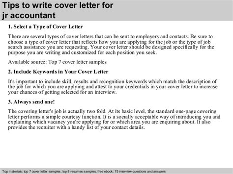 junior accountant cover letter   experience entry