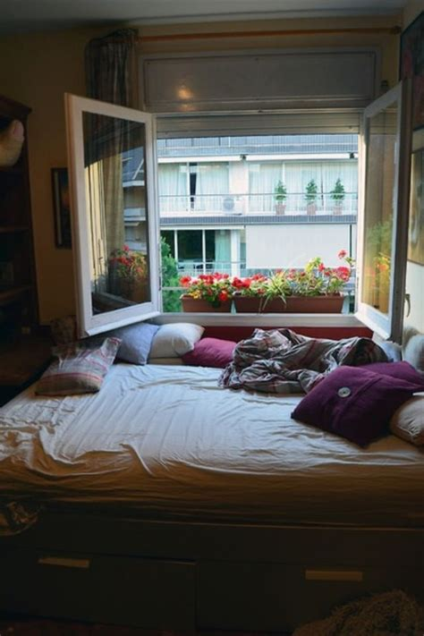bed by the window bed next to large window dream home pinterest