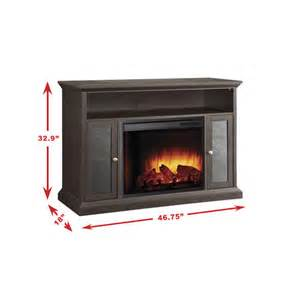 espresso media electric fireplace with remote at menards 174