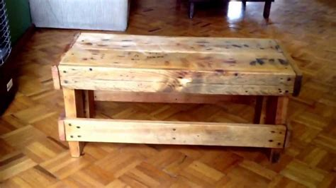 coffee table bench diy old pallets project diy little bench coffee table