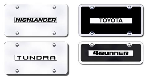 Vanity Plate Names by Toyota Name Badge License Plates Vanity Logo Tags