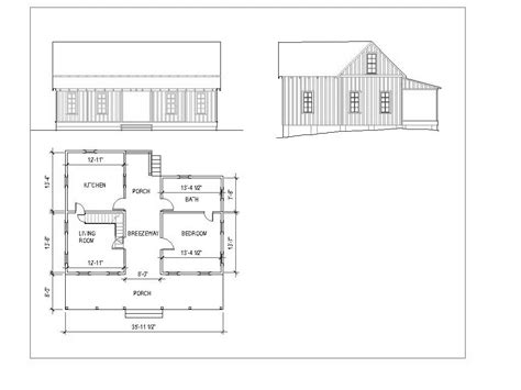 Ditch Door House Floor Plan - intriguing dogtrot layout like the out side but maybe