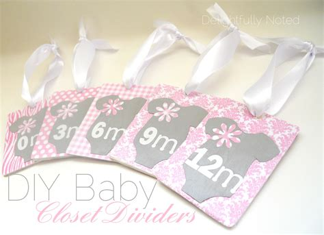 Handmade Gifts From Baby - handmade baby gifts diy baby closet dividers